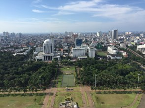 "view from ""monas"" in jakarta"