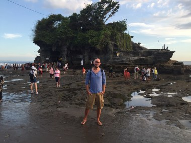 "pilgrimage temple ""Pura Tanah Lot"", the ""Land in the Sea"""