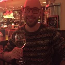 enjoying a glass of wine in mainz, germany