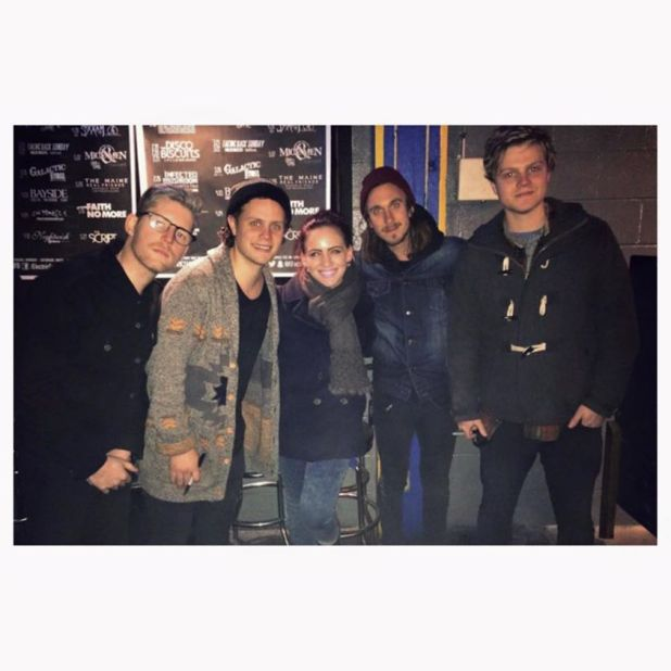 With Colony House at the Electric Factory in Philadelphia, 12 February 2015
