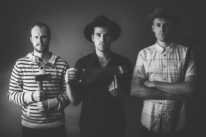 Stubborn Son, from Left to Right: bassist Andrew Knapp, singer/guitarist Garrett Lamp, and drummer Blair Daly