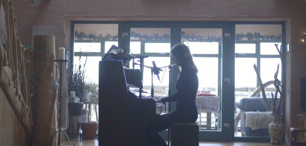 "Screenshot from Rosie Carney's acoustic video for ""Awake Me"""