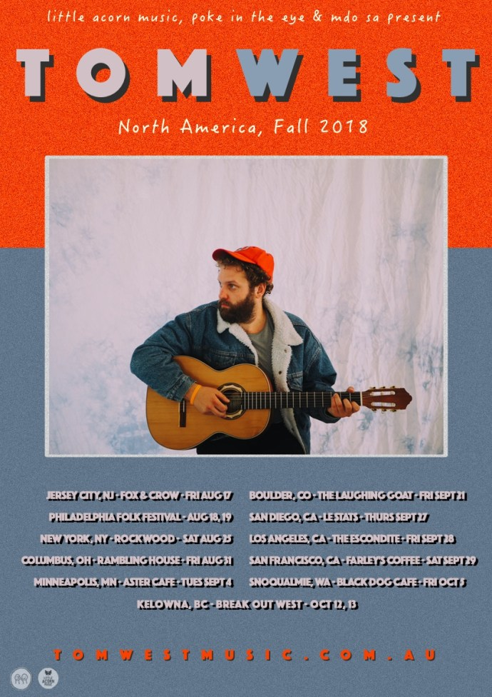 Tom West's US fall 2018 tour poster