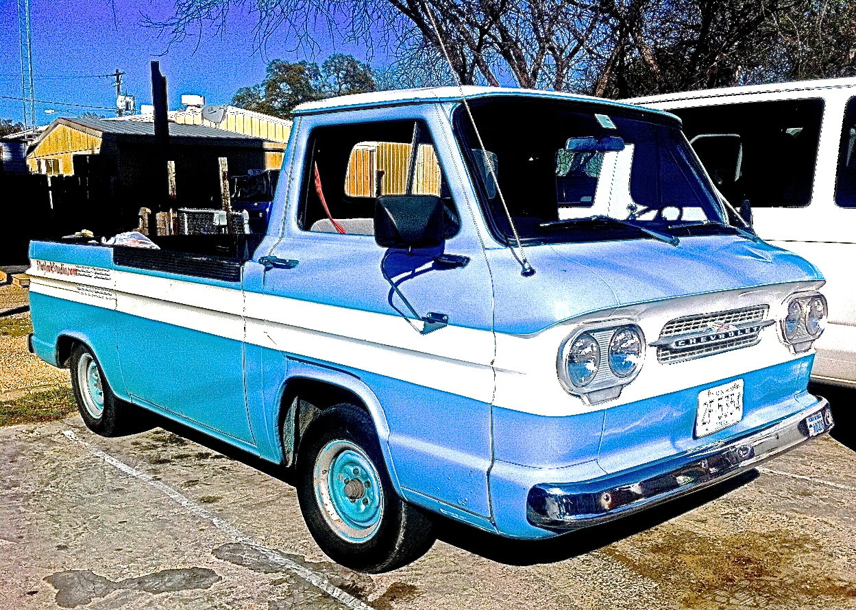 Atx Car Pictures Real Pics From Austin Tx Streets Backyards 1961 Chevy Panel Van Corvair Rampside Pickup On S 1st St This Afternoon