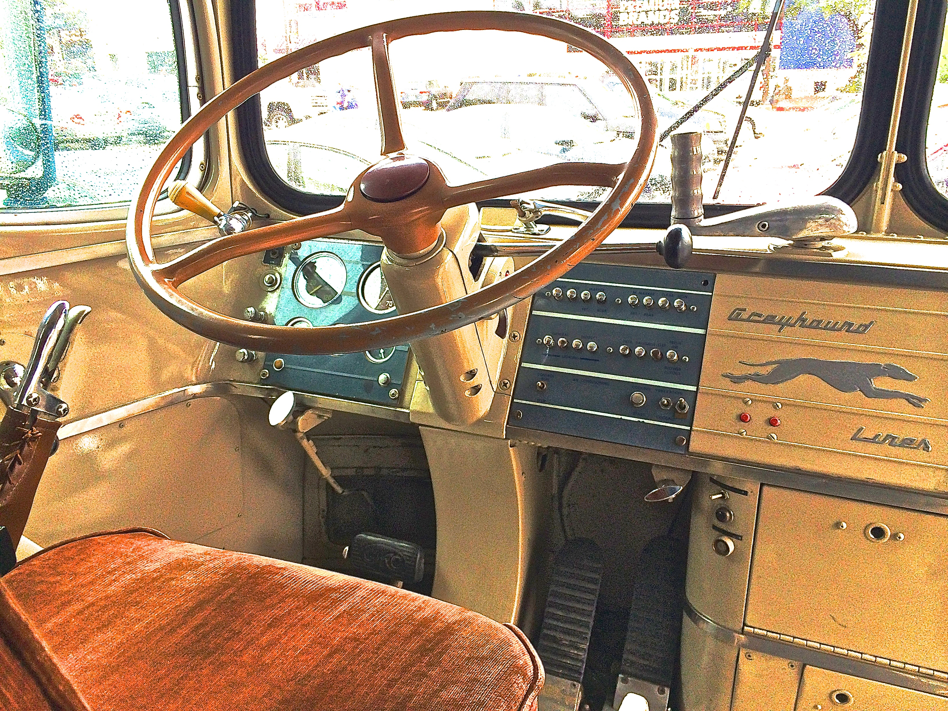 Cars For Sale Austin Tx >> 1947 Silversides Greyhound Bus at Gateway Center | ATX Car Pictures | Real Pics from Austin TX ...