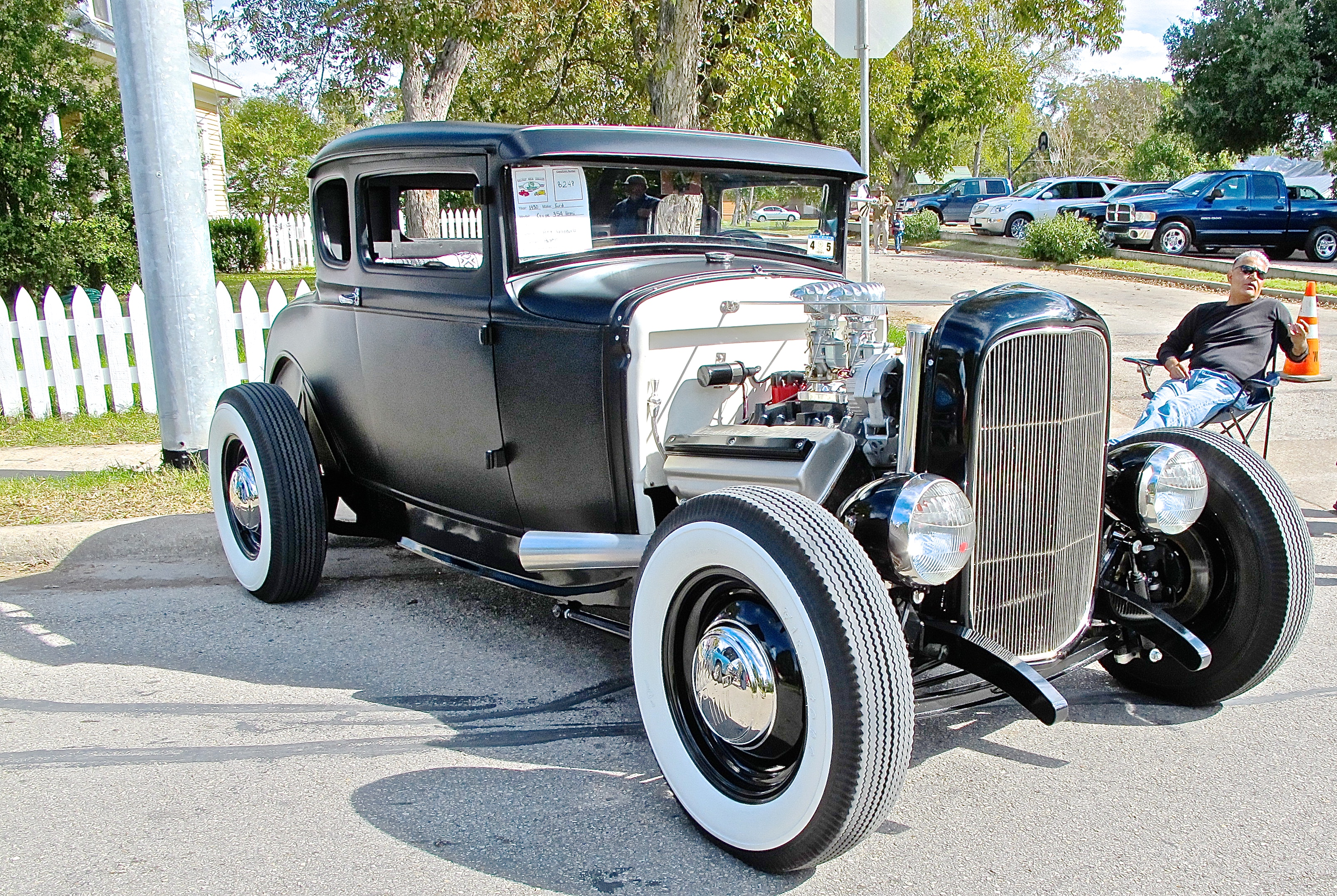 classic 1930 ford coupe hot rod at bastrop car show atx. Black Bedroom Furniture Sets. Home Design Ideas