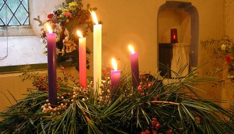 Advent Wreath - closeup