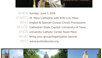"Corpus Christi Procession – ""That They May All Be One"" (Part 1)"