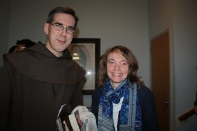Fr. Gregory Ross, O.C.D., with Sister Celestina at the Busy Student's Retreat
