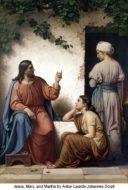 Jesus, Mary, and Martha by Anton Dorph
