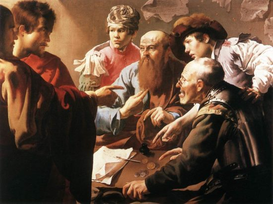 The Calling of St. Matthew by Hendrick Terbrugghen