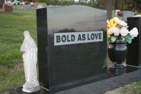 back of he grave of Bob Chapman, my late husband