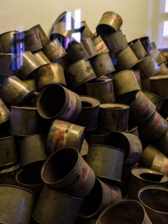 cans used in the gas chambers..