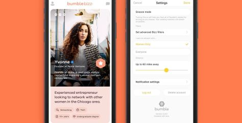 Bumble Launches Women-only Networking Tool