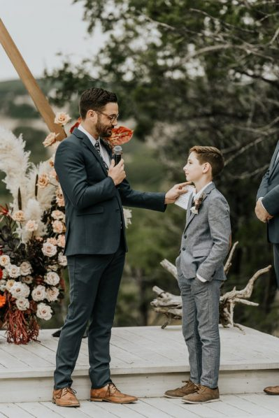 Brendan + Cecily - Vows at Wedding - Austin Woman Magazine - Swiping as a Single Mom