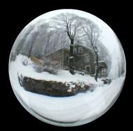 house snowglobe