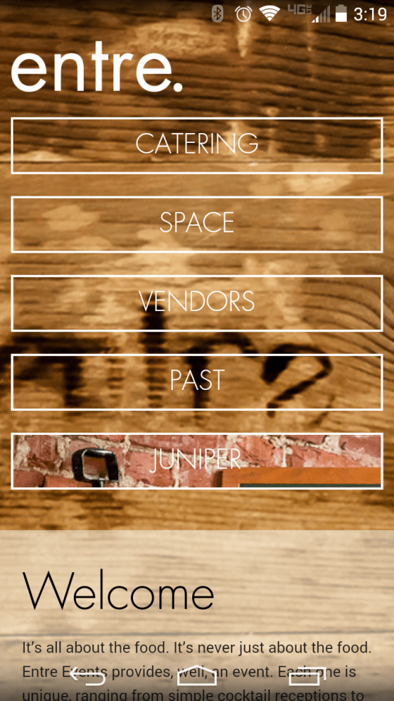Responsive website menu.