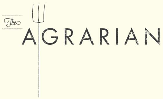 A logo for a temporary pop-up vegetarian restaurant.