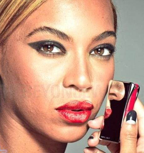 Bey with phone