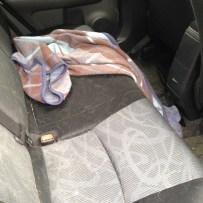 My dirty cars backseat