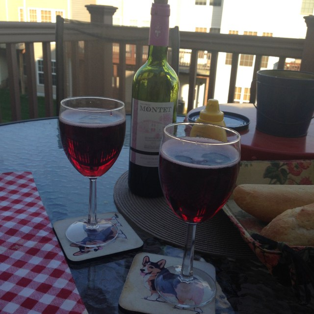 Aperitifs on the deck