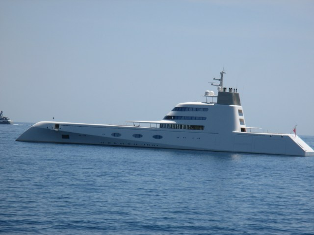 Antibes. The fugliest yacht on earth..but so many stopped to take a pic.