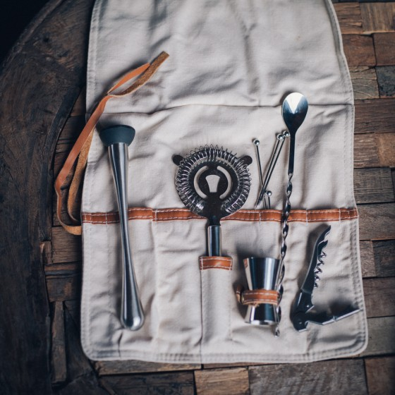 Leather roll up bar kit. 84.00 preserve