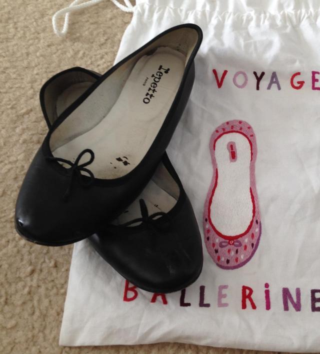 Longchamp bag ballet flats