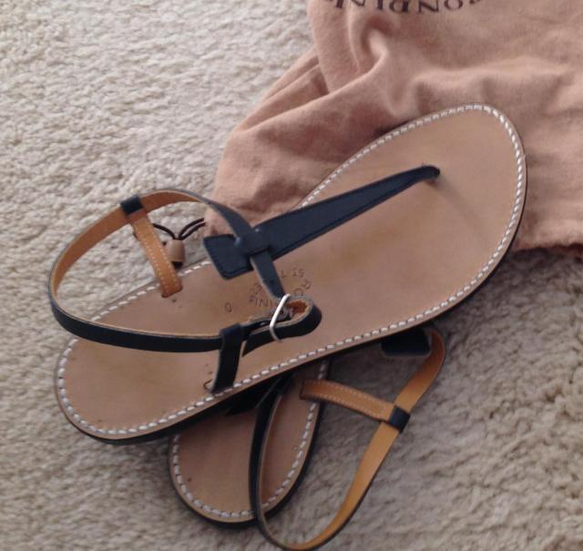 Longchamp bag sandals