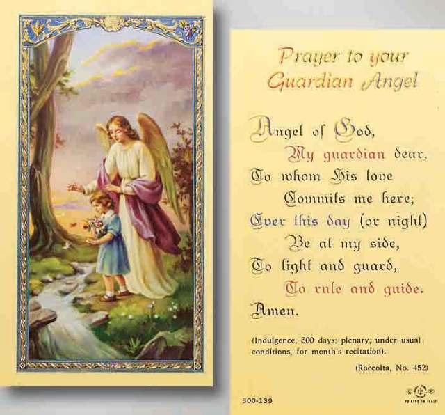 Shopping. My Guardian Angel prayer
