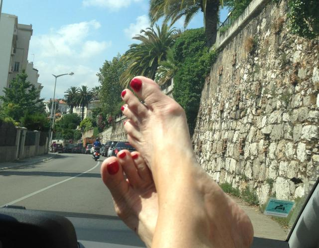 Theoule. My feet on the way back from Italy. pic 2