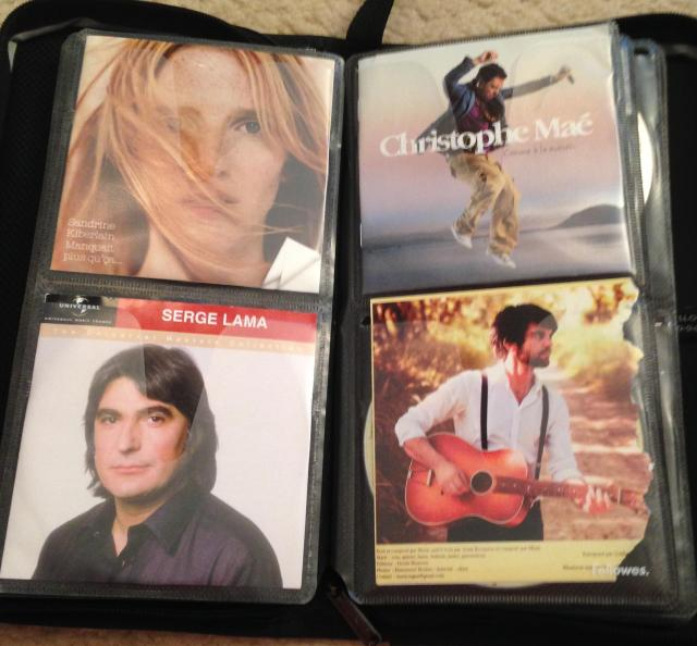 Top left Sandrine Kiberlain's CD is great!