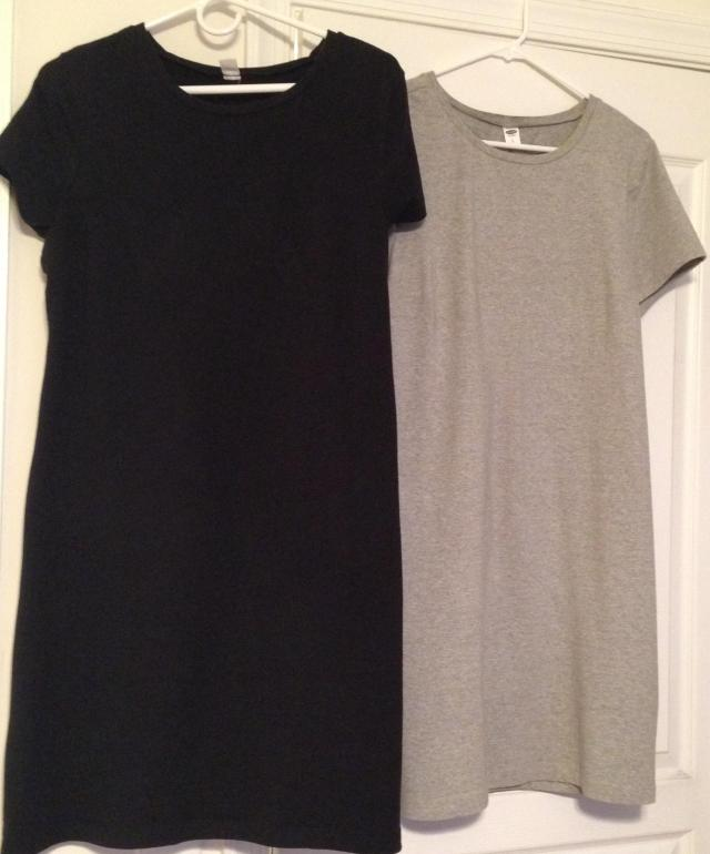 Two t shirt dresses I wore in Paris multiple times
