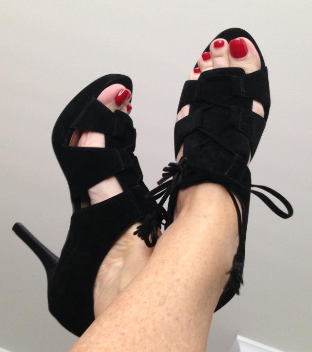 Black Strappy heels by Nine West Under 50.00 Mine.
