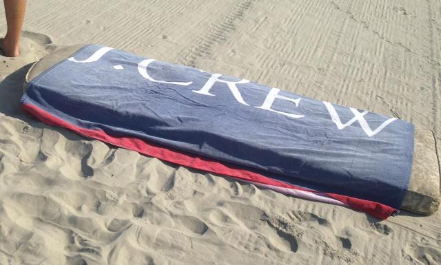 J. crew beach towel