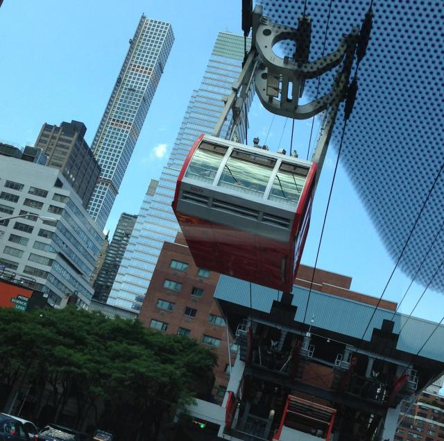 Saturday Tram ride to Roosevelt Island overhead