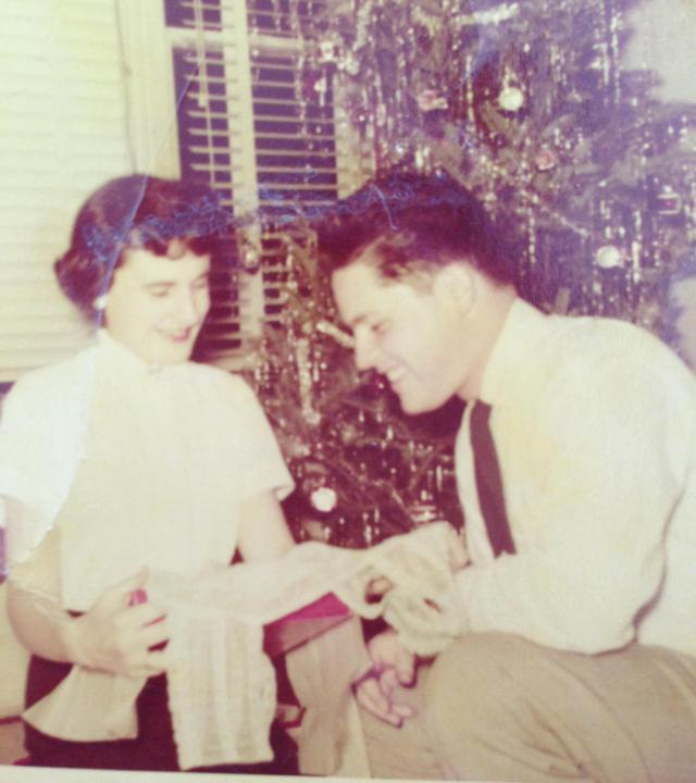 Christmas when they were dating