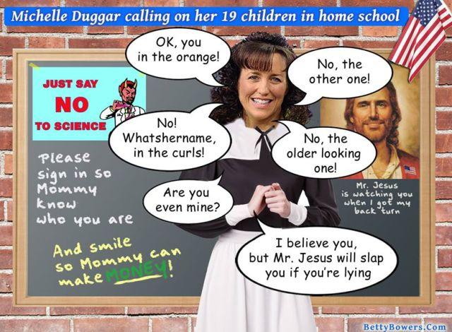Michelle Duggar Homeschooling