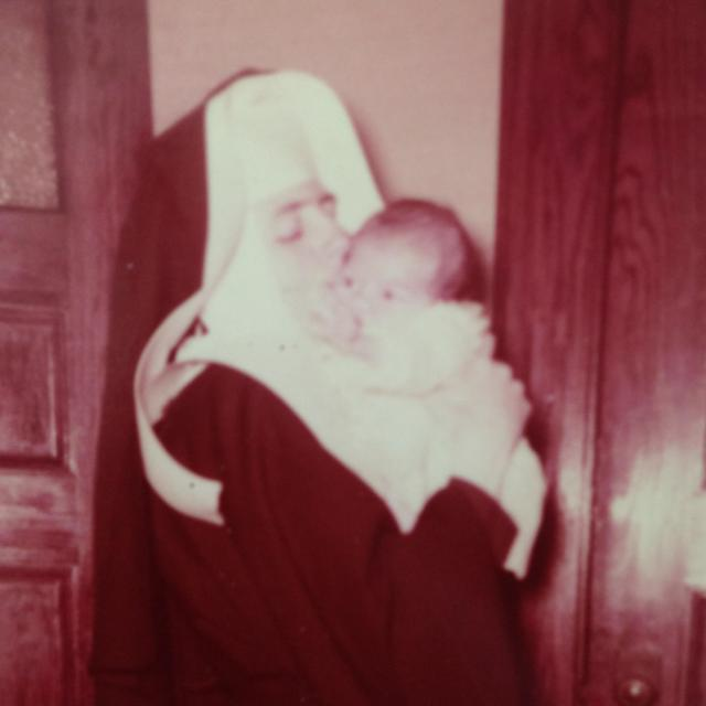 Sr. Eleanor with me. The REAL Sister Mom!