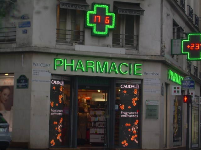 Paris. Sign. City Pharma. Best beauty shop ever!