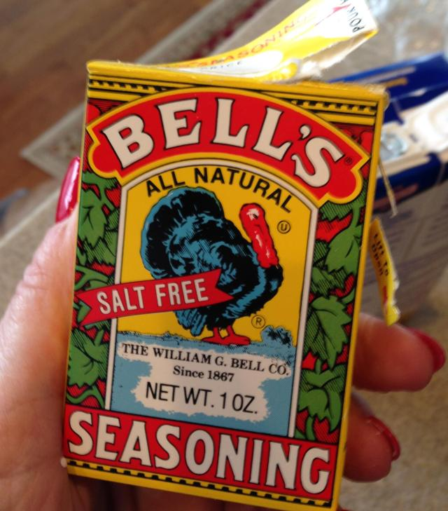 Bell's Seasoning. Can't have a bird without it. Besides, the packaging is epic!