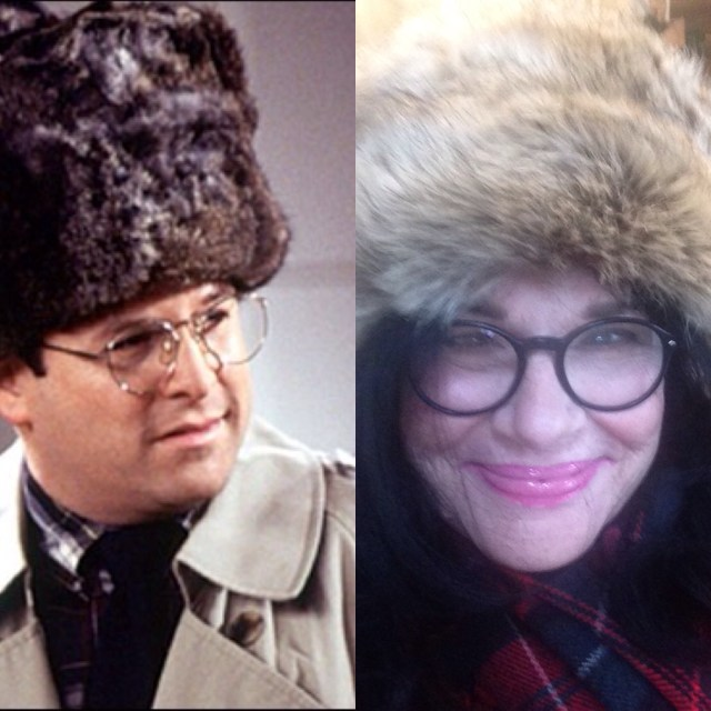 Costanza and me in hat.