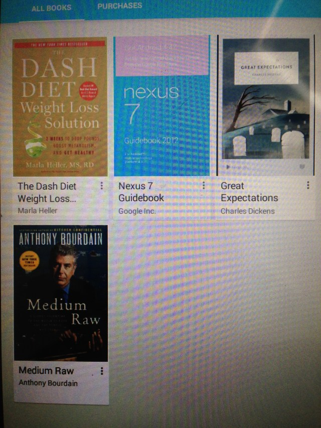 books on my tablet