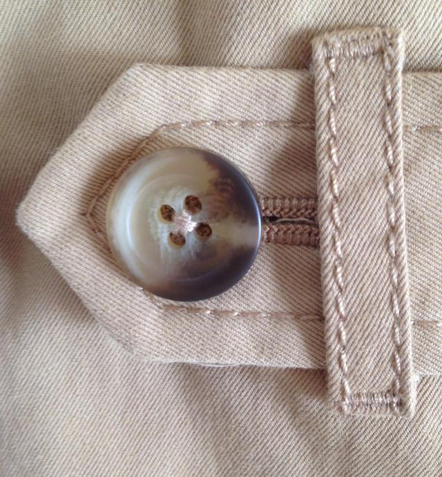 Button on cuff