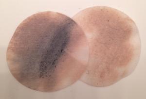 Dirty makeup remover pads