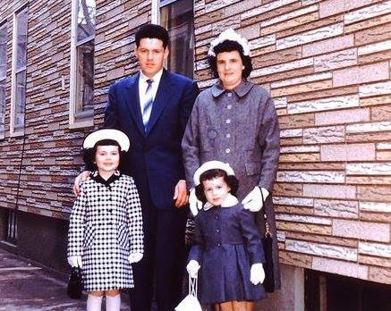 Easter 1959 Me dad mom theresa