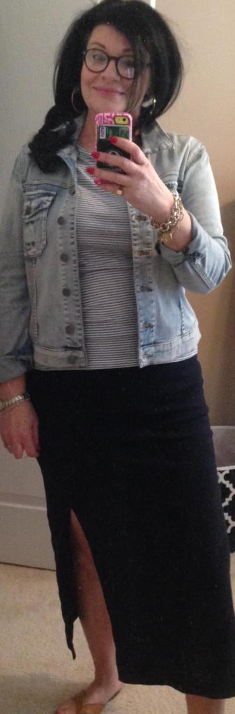 Gap midi maxi with denim jacket
