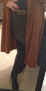 mini boots belt long coat 1