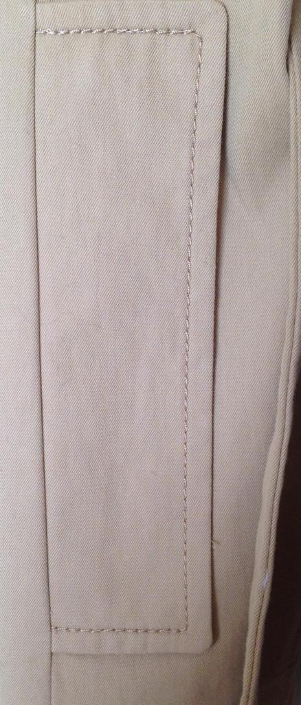 stitching around pocket