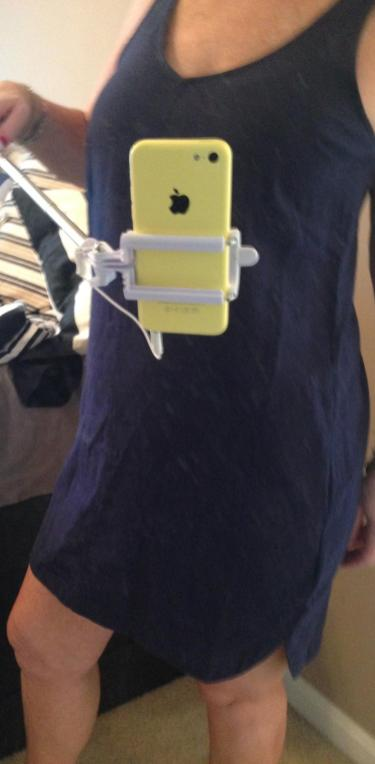 ON dress from selfie stick pic